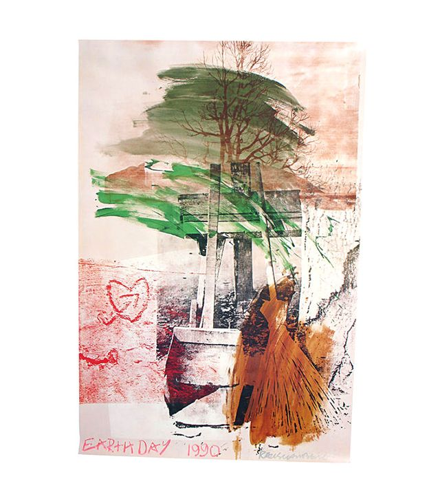 ABC Modern Earth Day Lithograph by Robert Rauschenberg