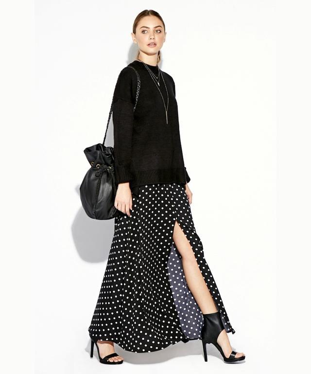 Dailylook Polka Dot Maxi Skirt