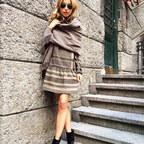 Look de Pernille scarf