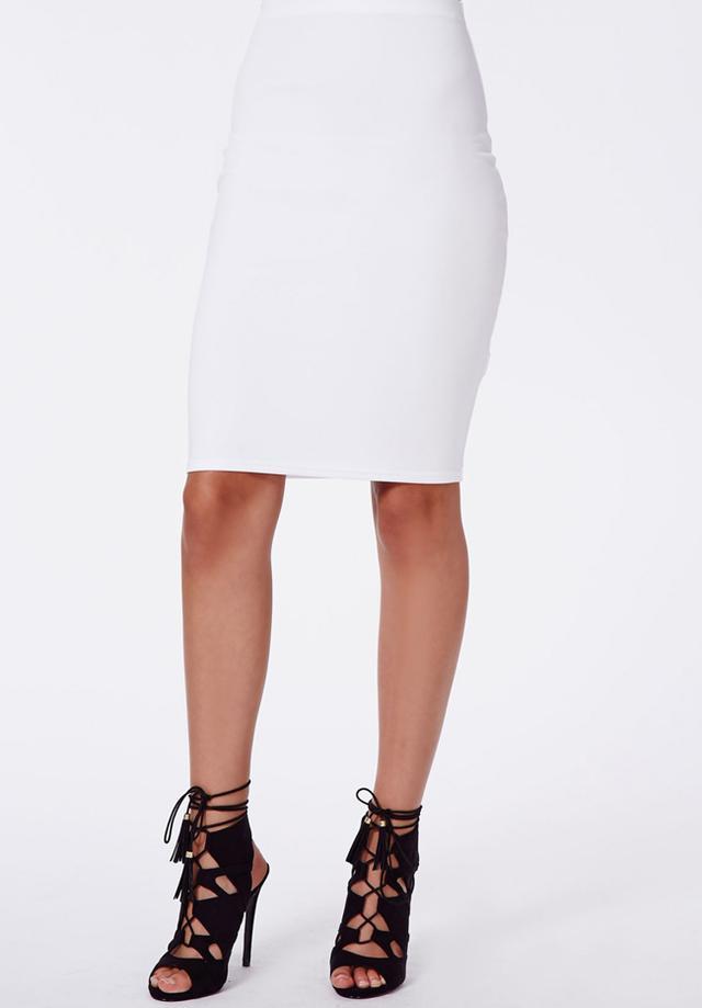 Missguided Candace Scuba Mini Skirt
