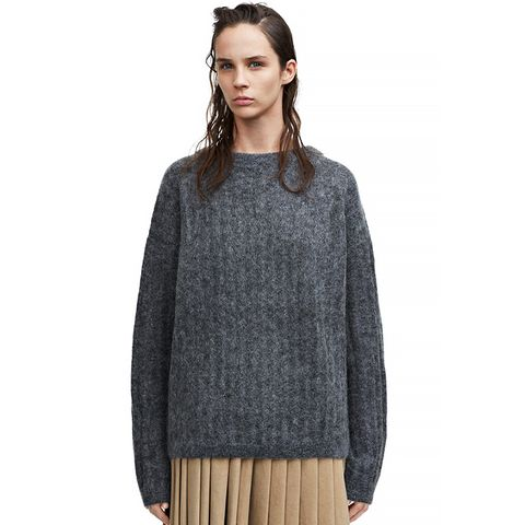 Dramatic Moh Grey Melange Sweater