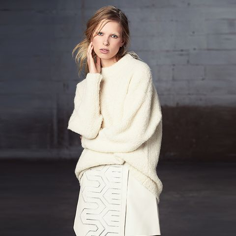 Ivory Oversized Cozy Alpaca Sweater