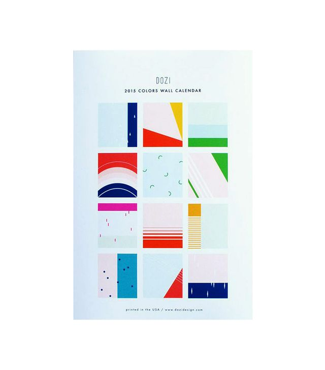 Dozi Design 2015 Colors Wall Calendar