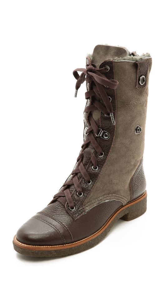 Diane von Furstenberg Alexia Combat Boots