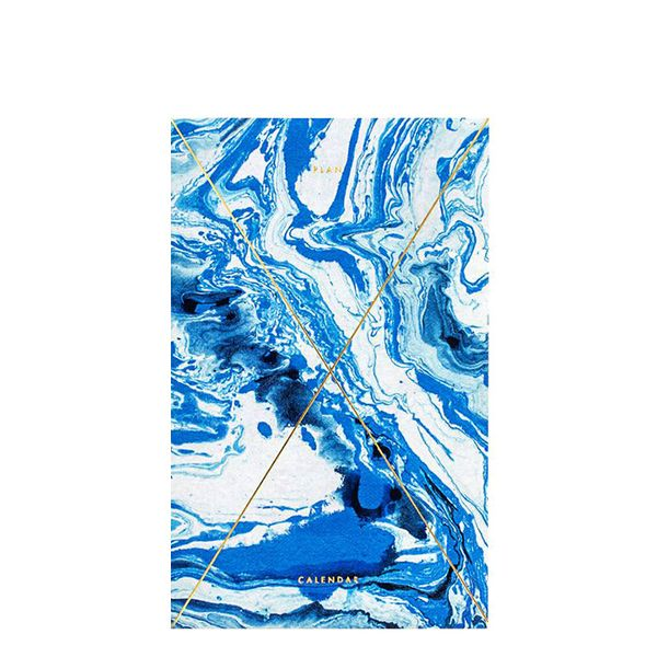 Julia Kostreva Marble Indigo Gold Foil Any-Year Daily Planner