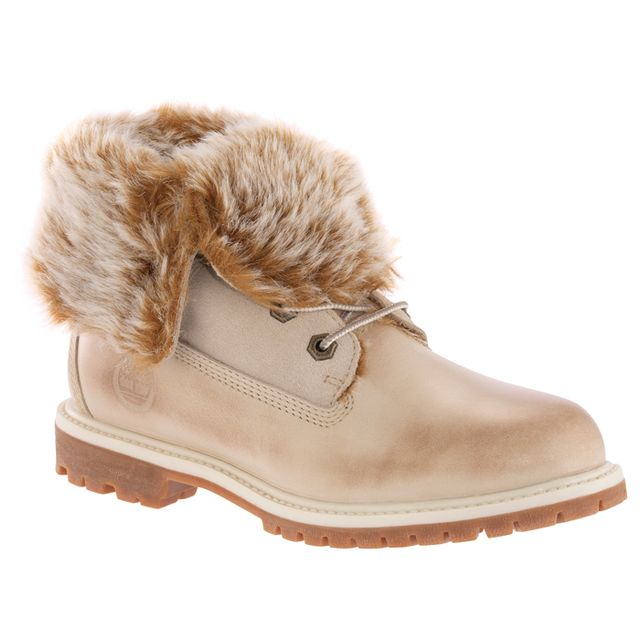 Timberland Faux Fur Fold-Down Boots