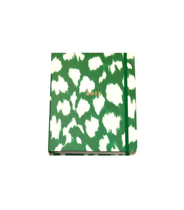 Kate Spade Green Painterly Cheetah 17-Month Agenda