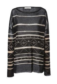 Zara Zara Geometric Print Sweater