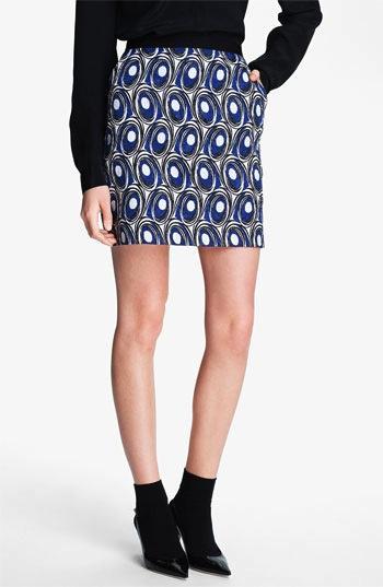Miss Wu  Abstract Print Jacquard Skirt