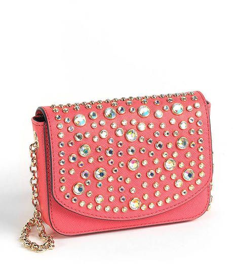Juicy Couture  Sophia Embellished Leather Mini Crossbody Bag