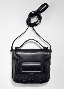 Derek Lam  Black Leather Bodin Crossbody Handbag