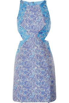 Richard Nicoll Cutout Brocade Mini Dress