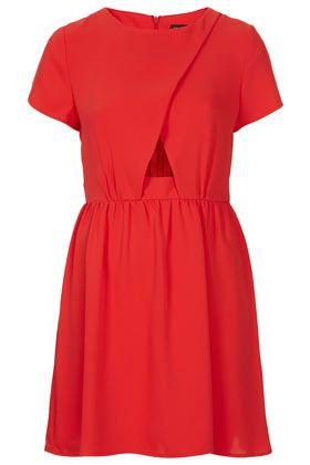 Topshop Wrap Front Flippy Dress