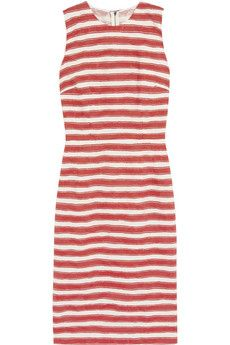Dolce & Gabbana  Striped Cotton-Blend Jacquard Dress