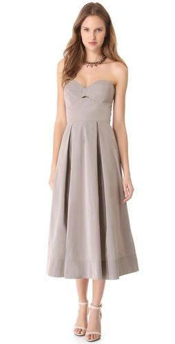 Robert Rodriguez  Long Cutout Ball Dress