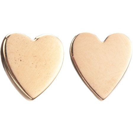 Jennifer Meyer  Rose Gold Heart Stud Earrings