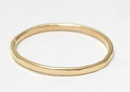 Catbird Classic Hammered First Knuckle Ring