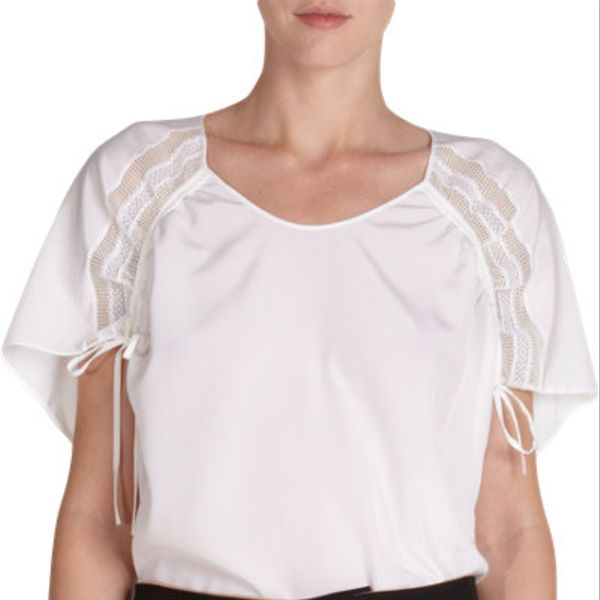 Chloe Drawstring Short Sleeve Blouse