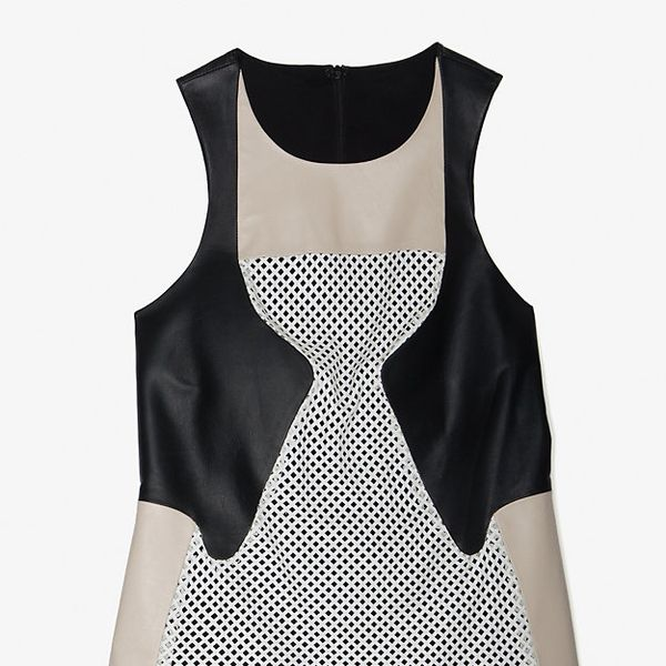 Ohne Titel  Leather/Mesh Tank