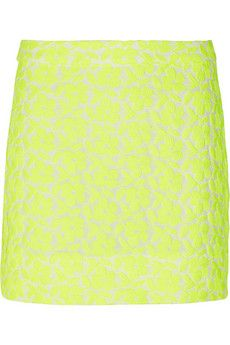 J.Crew Postage Stamp Embroidered Cotton-Blend Mini Skirt