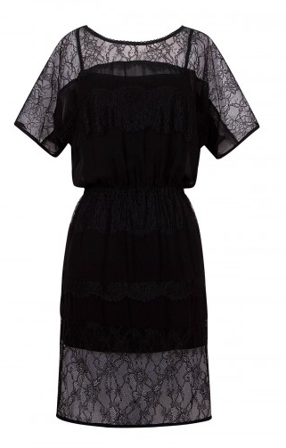 Sandro Riad Black Lace Dress