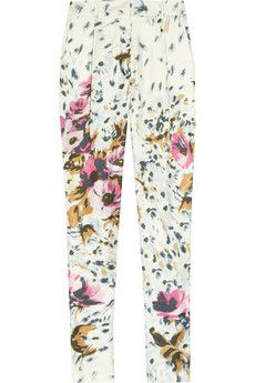 By Malene Birger Regal Floral-Print Silk Pants