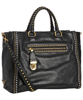 Prada Studded Medium Tote