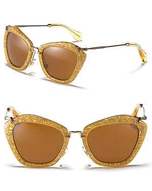 Miu Miu Catwalk Sunglasses With Thin Temple