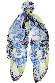 Erdem   Milandes Printed Silk-Crepe Scarf
