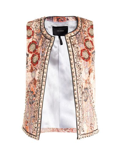 Isabel Marant  Jungle Paisley Embroidered Waistcoat