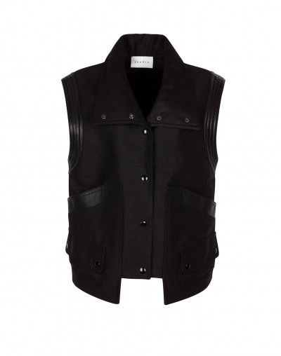 Sandro  Volume Black Structured Vest