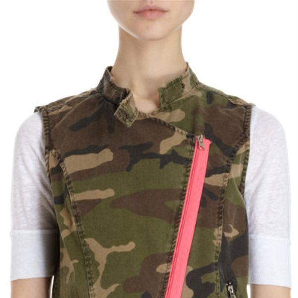 That's It  Pink Zip Camo Vest
