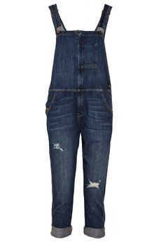 Current/Elliott Current/Elliott The Ranch Hand Distressed Stretch-Denim Overalls