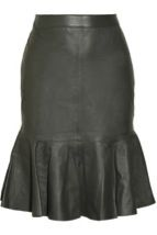 Iris & Ink Iris & Ink Leather flared skirt
