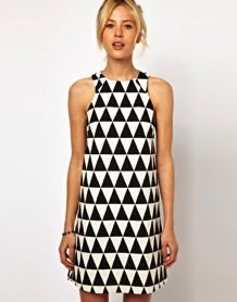 ASOS  ASOS Triangle Jacquard Shift Dress
