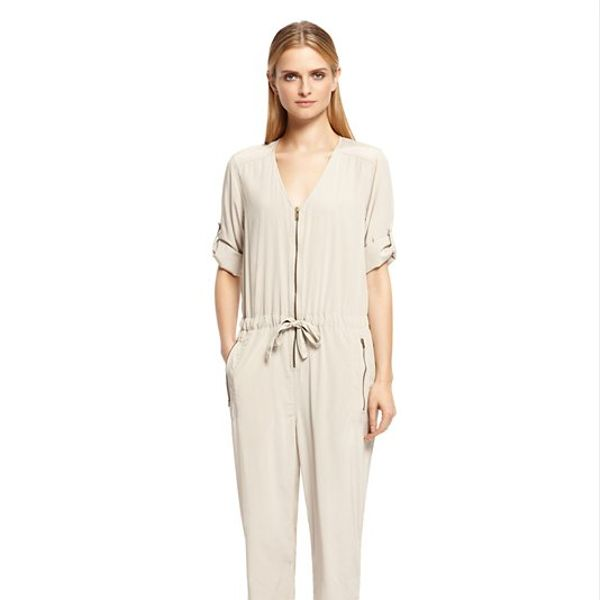 PureDKNY Three Quarter Sleeve Jumpsuit