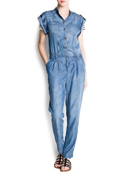 Mango Denim Jumpsuit