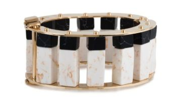 Lele Sadoughi  Lele Sadoughi Stone Column Slider Bracelet