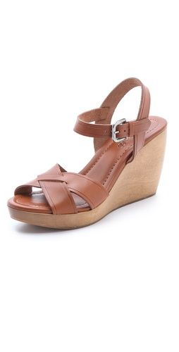 Madewell  Slotted Cross Wedge Sandals