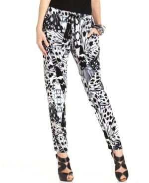 DKNY Butterfly-Printed Lounge Pants