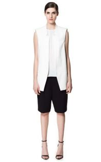 Zara Zara Waistcoat with Lapels and Shoulder Pads