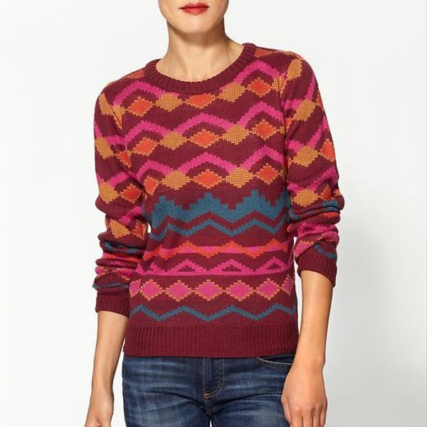 Lucca Couture Geometric Print Sweater