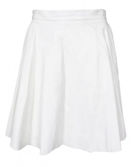 Timo Weiland  White Leather Skirt