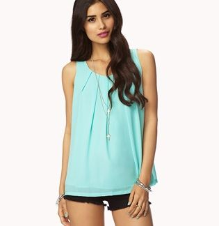 Forever 21  Pleated Georgette Top