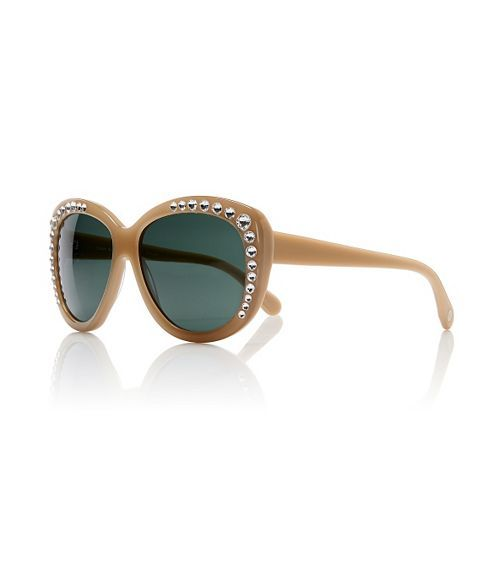Tory Burch Crystal Cat-Eye Sunglasses