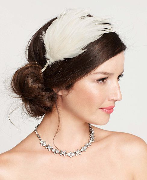 Ann Taylor Embellished Feather Headband