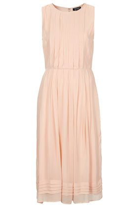 Topshop Pleated Midi Dress