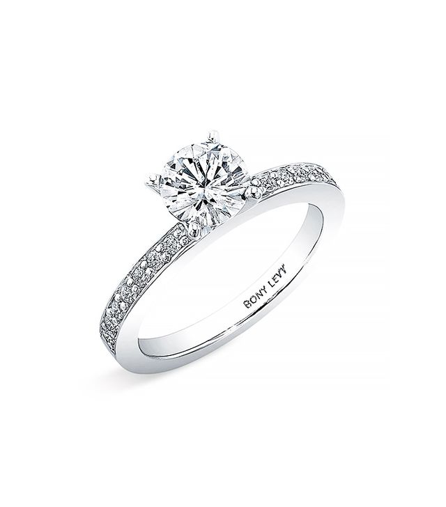 Bony Levy Bridal Channel Set Diamond Semi Mount Ring