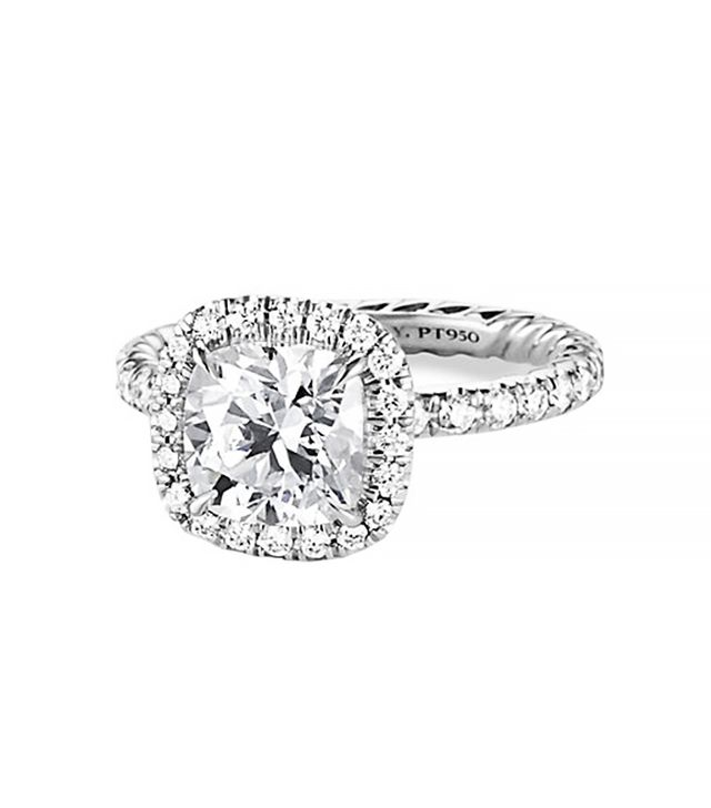 David Yurman Capri Pave Engagement Ring in Platinum
