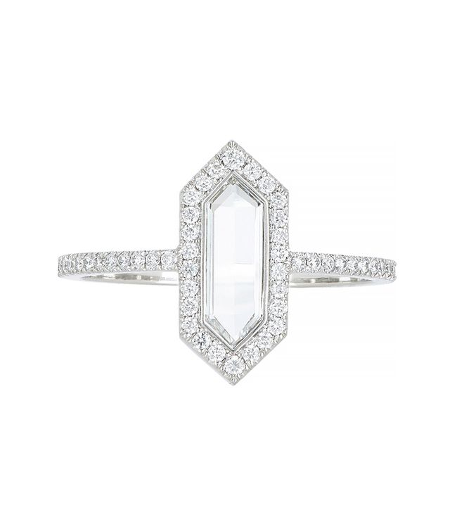 "Eve Fehren Diamond & Platinum ""The Line"" Ring"